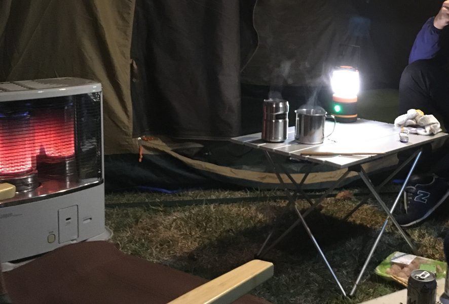 【冬キャンプ】反射式石油ストーブが安くて使える