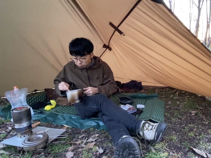 アルコールストーブとクッカーセットでキャンプ飯してみた